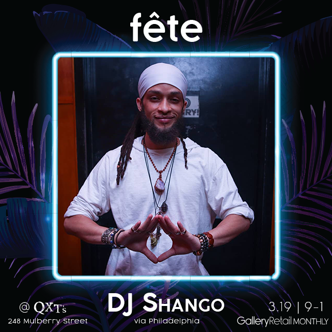 fete monthly party, photo of dj shango of philadelphia
